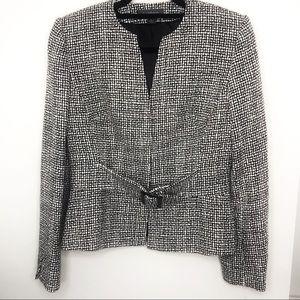Liz Claiborne Gray Jacket with attached belt